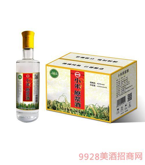 原生态小米原浆酒42度450mlx12