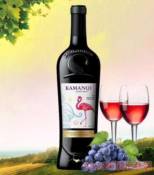 卡曼琪干红葡萄酒火烈鸟白标12.5度750ml