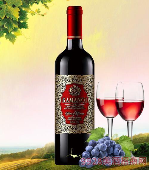 卡曼琪干红葡萄酒金属标-750ml