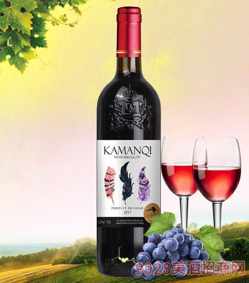 卡曼琪干红葡萄酒三色羽毛12.5度750ml