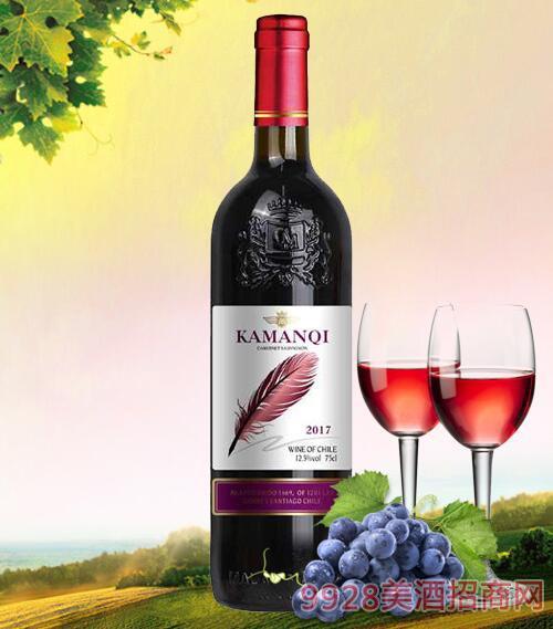 卡曼琪干红葡萄酒-紫羽毛12.5度750ml