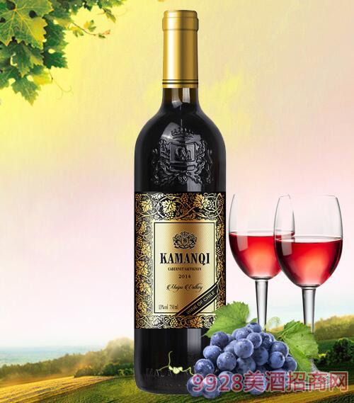 智利卡曼琪雷纳干红葡萄酒13度750ml