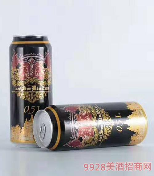 500ml凯撒金樽黑啤