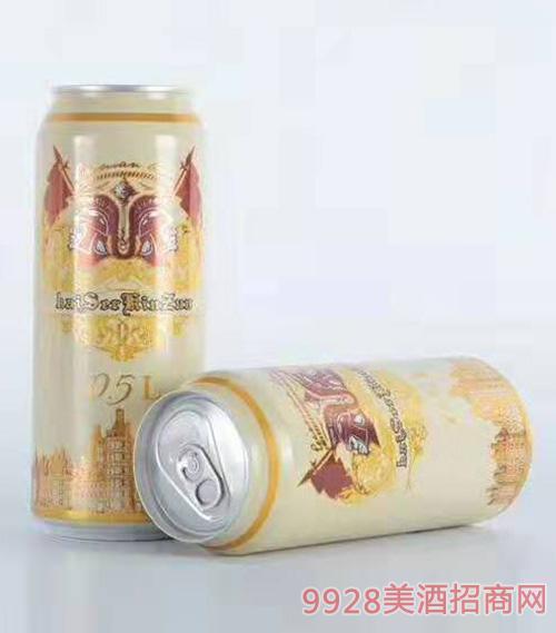 500ml凯撒金樽白啤
