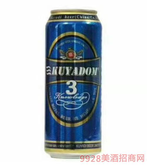 500ml酷雅帝啤酒3号
