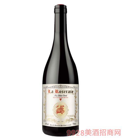 白马康帝玫瑰园干红葡萄酒14度750ml