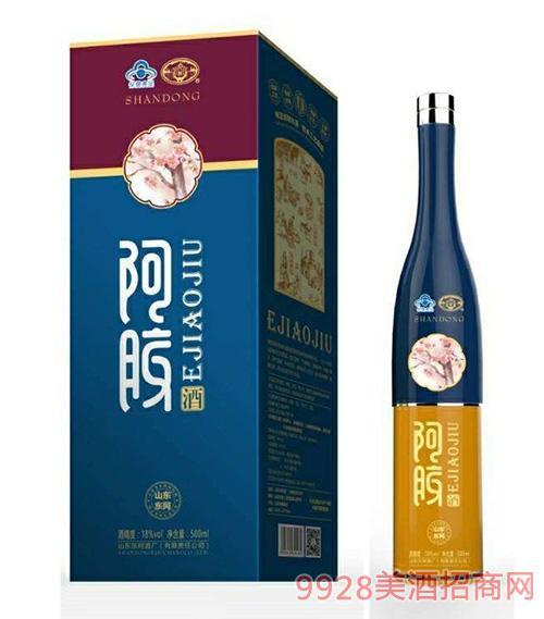 东阿阿胶酒18度500ml蓝盒