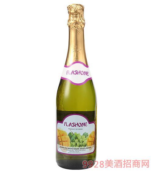 飞吻无醇气泡酒白葡萄&芒果味750ml