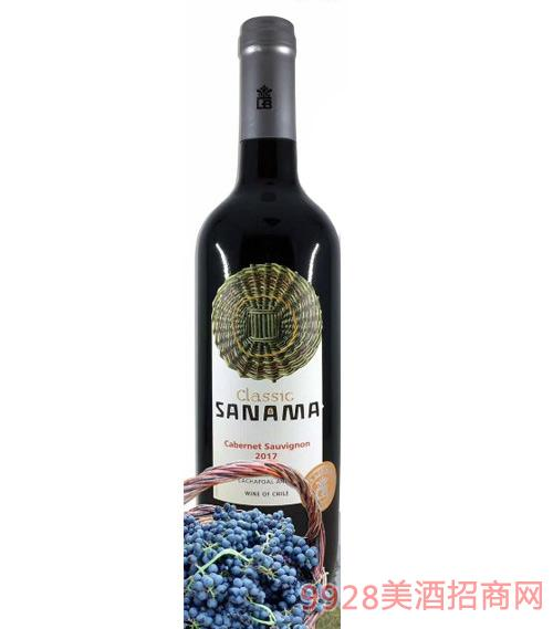 萨那玛经典赤霞珠干红葡萄酒13.5度750ml