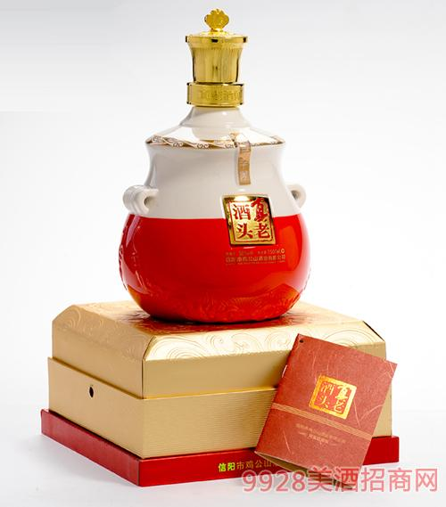 鸡公山粮液3斤坛装真老酒头(红白坛)酒