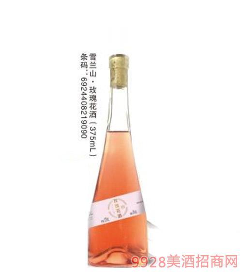 雪�m山玫瑰花酒375ml