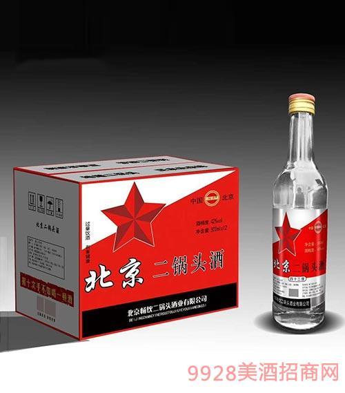 畅饮北京二锅头酒42度500mlx12
