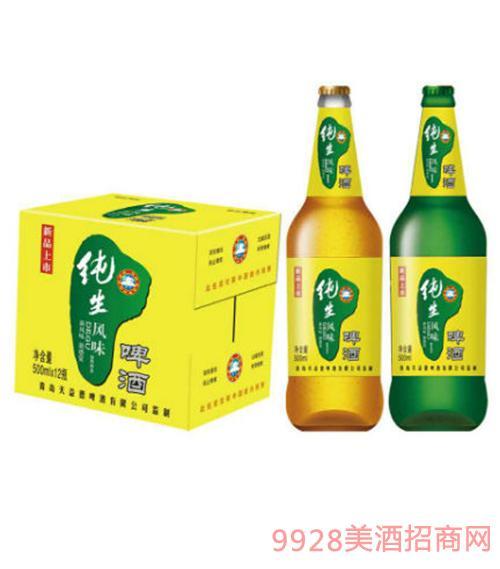 德谷纯生黄金风味啤酒500mlX12瓶