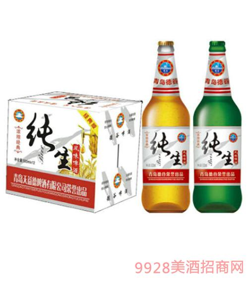 德谷经典纯生啤酒500mlX12瓶