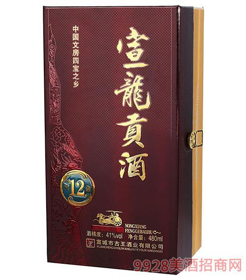 宣龍貢酒窖藏12酒41度480ml