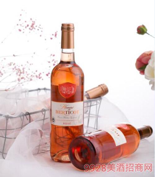 百丽高荣耀桃红葡萄酒750ml