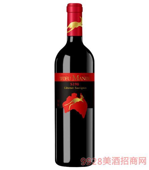 沃富�t袋鼠S198干�t葡萄酒