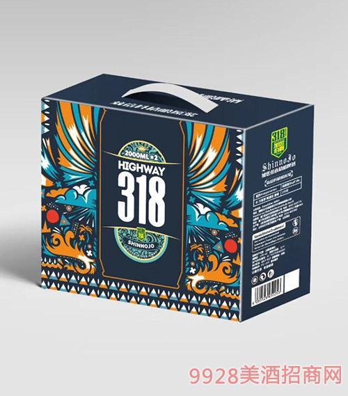 加世伯爵318精酿啤酒2L箱装