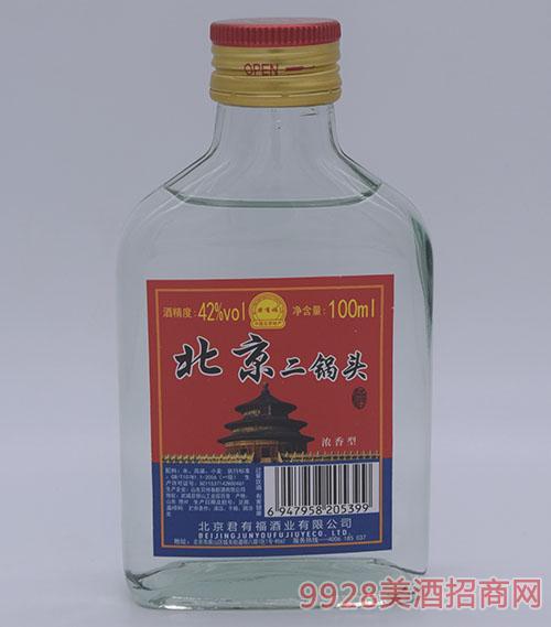 42度君有福北京二��^酒100ml