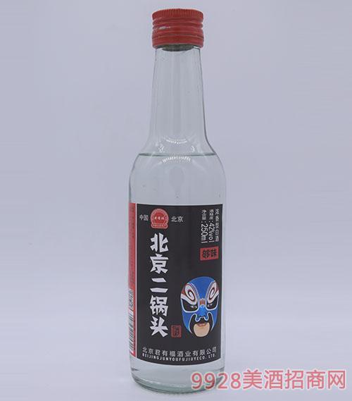 君有福北京二��^酒�{��V42度250ml