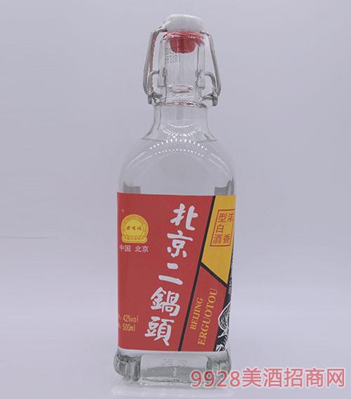 君有福北京二��^酒方瓶42度500ml