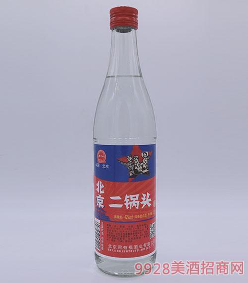 500ml君有福北京二��^酒42度