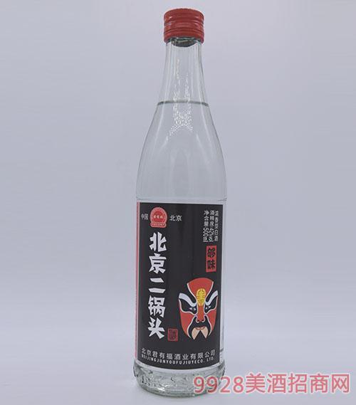 君有福北京二��^酒�t��V42度500ml