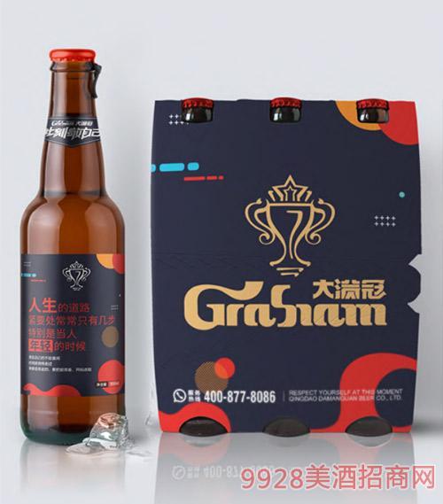 大�M冠啤酒棕瓶�b330ml文案版