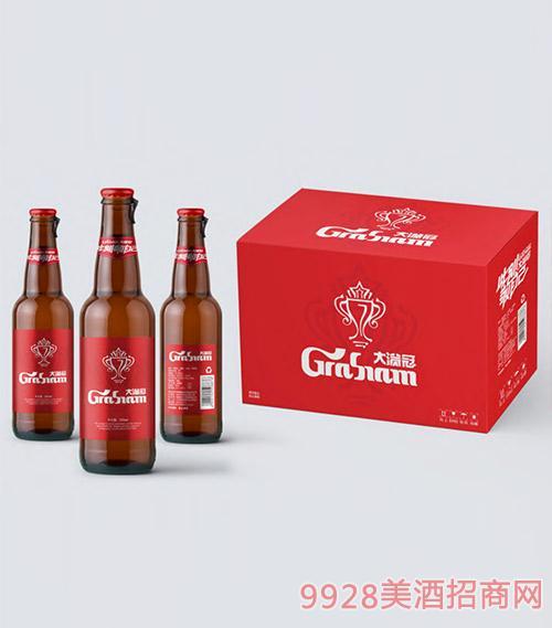 大�M冠啤酒330ml棕瓶�b