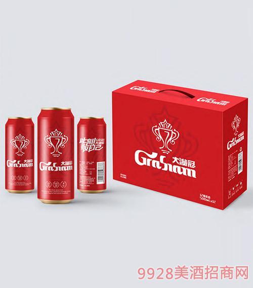 大�M冠啤酒易拉罐500ml