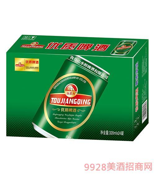 头浆青优质啤酒320mlx24罐