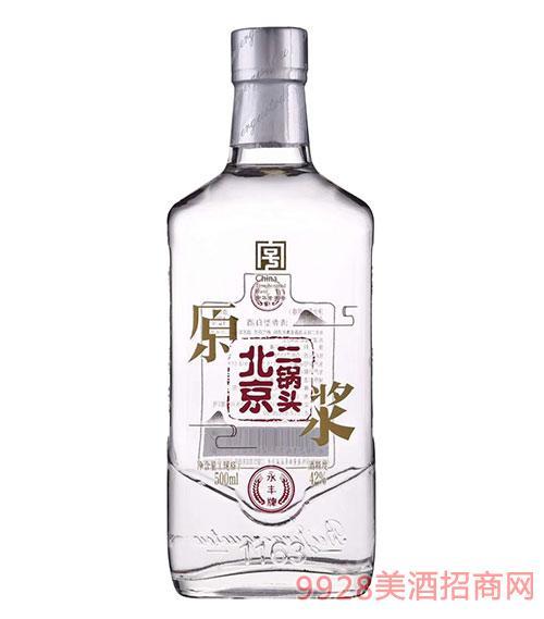 永�S牌北京二��^原�{酒42度500ml