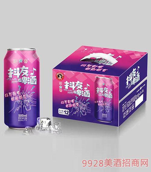 驿青春抖友啤酒500mlx12罐装