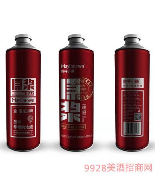 美林小�原�{啤酒11度1升�t瓶