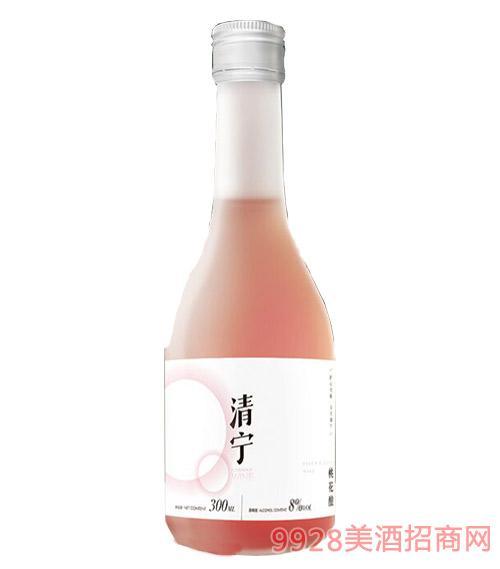 清��酒桃�t�8度300ml