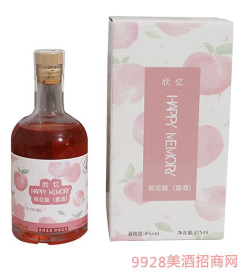 欣��桃花�(露酒)375ml