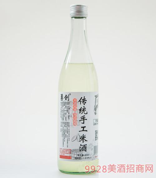 勇���鹘y手工米酒500ml