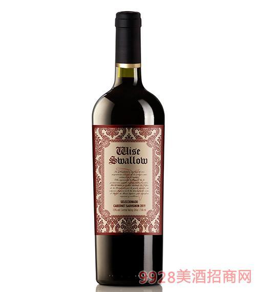 智燕精�x赤霞珠干�t葡萄酒13度750ml