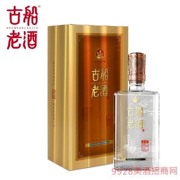 古船老酒金福45度�庀阈图��Z白酒