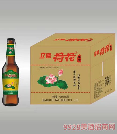立威荷花啤酒-500ml-10度拉�h�w