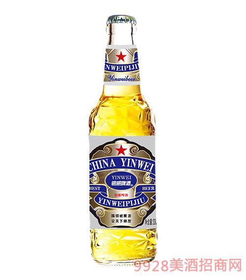 �y威啤酒�{白哈330ml