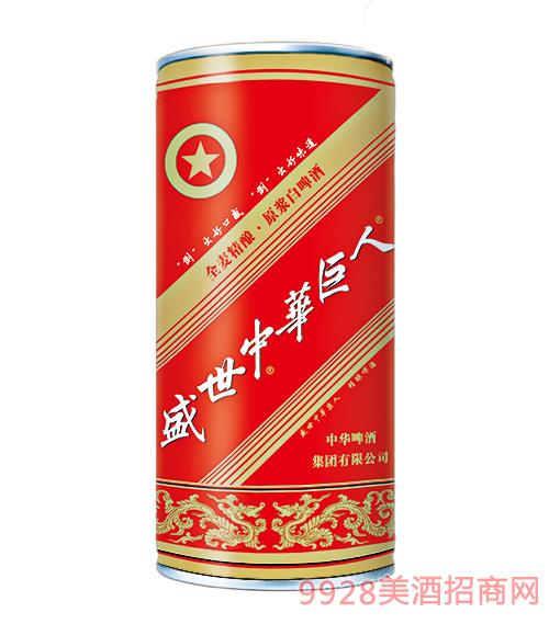 盛世中华巨人全麦精酿原浆白啤酒普通1L平口桶