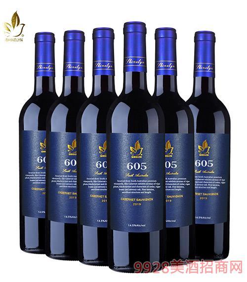 �奈605干�t葡萄酒14.5度750ml