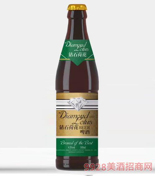 钻石荷花啤酒4.5度500ml