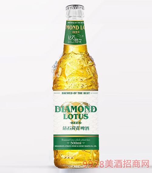 钻石荷花啤酒绿标500ml