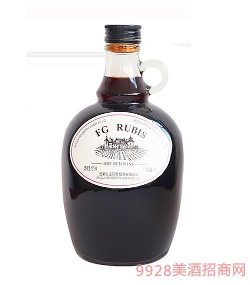 FG RUBIS干�t葡萄酒12度1.5L �t酒oem定制
