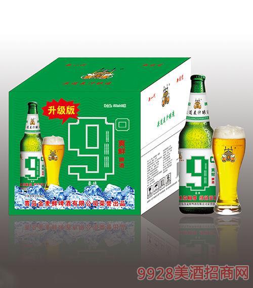 金���r啤酒9度500mlx12