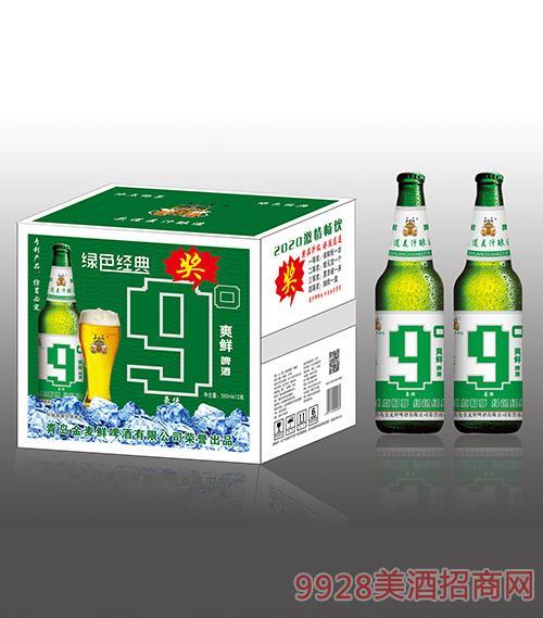 金���r啤酒�G色�典9度500mlx12