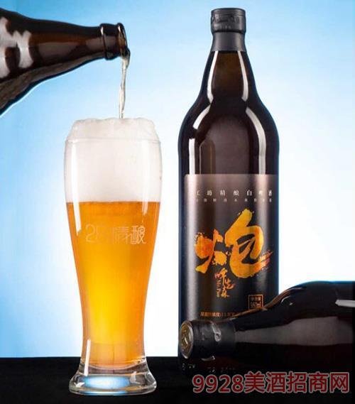 炮啤先森980ml工坊精�白啤酒