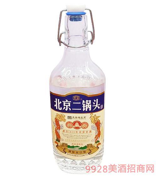 北京二��^酒���H出口型�{��500ml